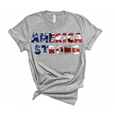 America Strong Crew Neck T-Shirt