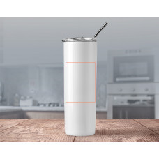 20oz Skinny Tumbler With Straw