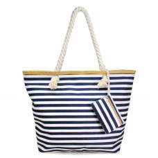 Blue Striped Tote Bag