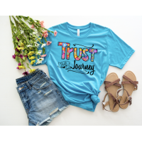 Trust the Journey Crew Heather Aqua T-Shirt