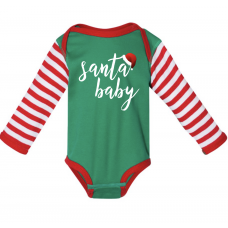 Santa Baby Long Sleeve Onesie