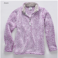 ~SALE~Ladies Epic Sherpa 1/4 Zip- L / OATMEAL