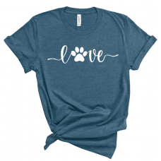 Love Pawprint Crew Neck T-Shirt