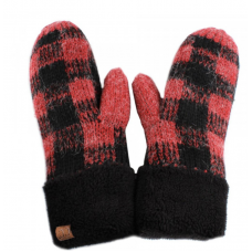C.C. Buffalo Plaid Mittens