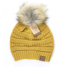 C.C. Beanie with pom pom (Multiple Colors)