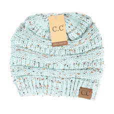 C.C.  Flecked Beanie Hat (Multiple Colors)