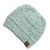 C.C. Fleck Messy Bun Beanie (Multiple Colors)