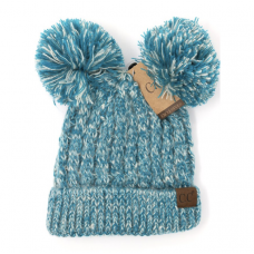 C.C. Beanie with Double Pom Pom (Multiple Colors)