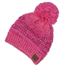 C.C. Fleck  Beanie with Pom Pom (Multiple Colors)