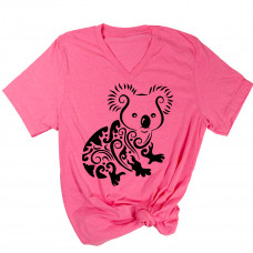 ** Support Australia Adorable Koala V-Neck T-Shirt