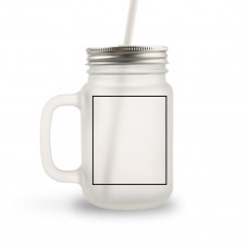12oz Frosted Glass Mason Jar BYOT