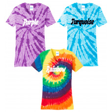 Plain Tie Dye Ladies V-Neck