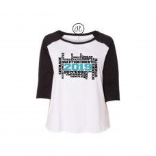 2019 Word Cloud Curvy Collection Raglan