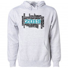 2019 Word Cloud Fleece Hoodie