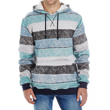 Men's Printed Striped Marled Pullover