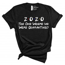 2020 The one where they are quarantined Crew Neck T-Shirt