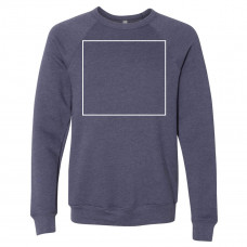 Heather Navy Unisex Sponge Fleece Raglan Sweatshirt BYOT