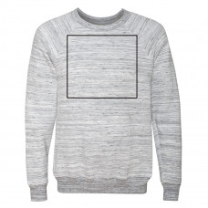 Light Grey Marble Unisex Sponge Fleece Raglan Sweatshirt BYOT