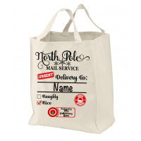 North Pole Custom Mail Service Tote