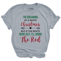 White and Red Christmas T-Shirt