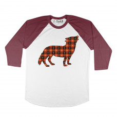 Plaid Wolf Raglan