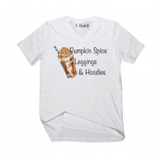 Pumpkin Spice Leggings and Hoodies V-Neck