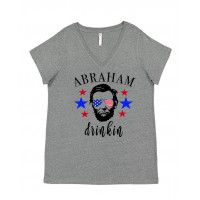 Abraham Drinkin Curvy Collection V-Neck