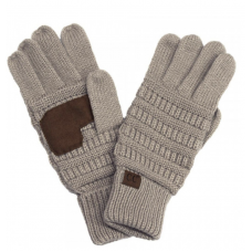 C.C Solid Ribbed Gloves