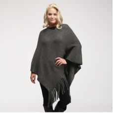 Bella Poncho with Fringe