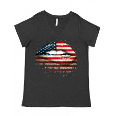 American Lips Curvy Collection V-Neck