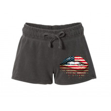 American Lips Printed French Terry Shorts