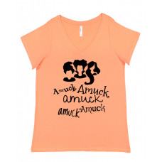 Amuck Amuck Amuck Curvy Collection V-Neck T-Shirt