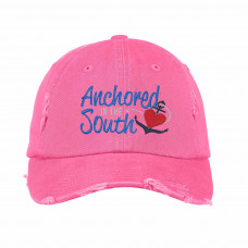 Anchored In The South Embroidered Hat