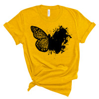 Artistic Lace Butterfly T-Shirt