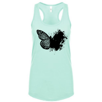 Artistic Lace Butterfly Tank Top