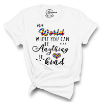 Autism Be Kind Crew Neck T-Shirt