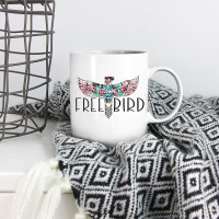 Aztec Free Bird 15oz White Ceramic Mug