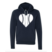 BASEBALL HEART FLEECE HOODIE