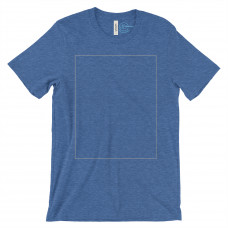 *Express Print Heather True Royal Crew Neck BYOT