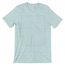 *Express Printing Heather Ice Blue Crew Neck BYOT
