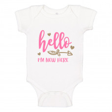 Baby Milestones Hearts Onesie - Multiple Options!