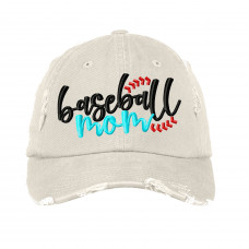 Baseball Mom Embroidered Hat