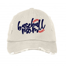 Baseball Mom Navy Embroidered Hat