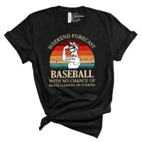 Baseball Weekend Forecast Crew Neck T-Shirt
