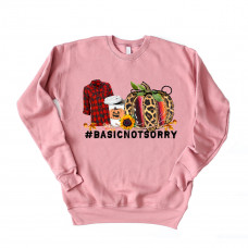 Basic Not Sorry Unisex Drop Sleeve Sweatshirt