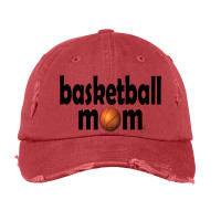 Basketball Mom Distressed Hat