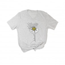 Be Kind Daisy V-Neck T-Shirt