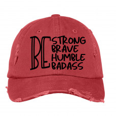 Be Strong Distressed Hat