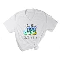 Be the Change V-Neck