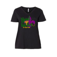 Bead Up Bitches Curvy Collection V-Neck